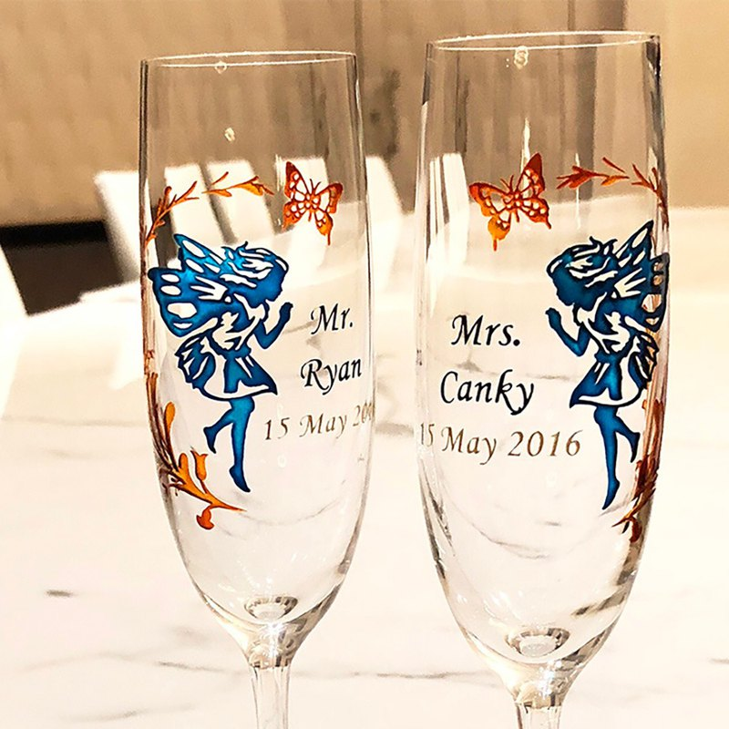Champagne Glasses - Fairy ( including casting & coloring names & date )