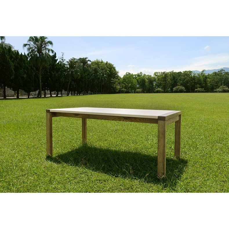 Two - color wooden table