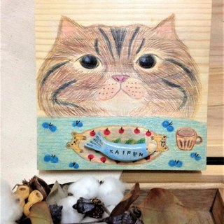 Learn Cats to Eat Well Chubby Cat Porcelain Painting
