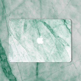 Original Turquoise  Marble Macbook Label Protector