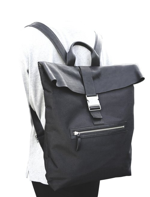 10TH THE LEATHER NYLON BACK PACK