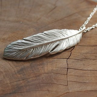 Silver Feather Necklace / wing / wings / Fly