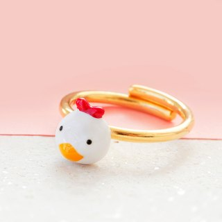 Chicken Ring in Brass -Free size
