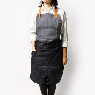 Deformable dual-use work apron (striped +C1) Full body half-length wear (limited edition)