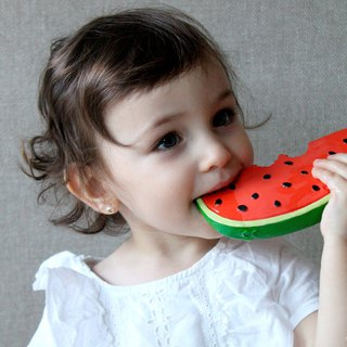Spain Oli&Carol Healthy Fruit and Vegetable Series - Watermelon - Natural Non-toxic Rubber Toy / Solid Gear