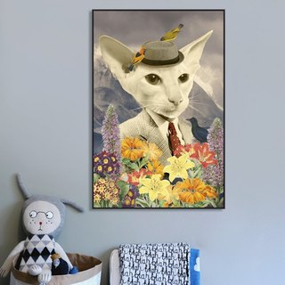 Dissident animal decorative painting living room bedroom children's room sofa backdrop painting paintings