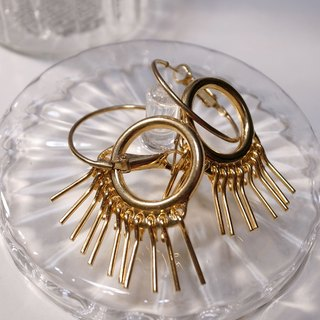 Golden Susan Tassel Earrings (Needle)