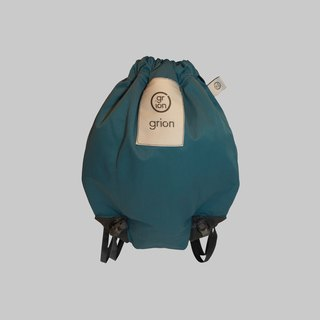 grion waterproof bag - back section (S) - Limited funds - tannin blue