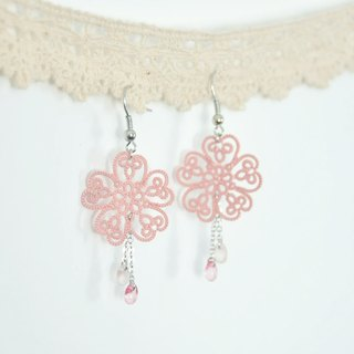 armei《訂製》櫻花片片 耳環 桜の花 Spring Sakura Cherry Blossom Earrings
