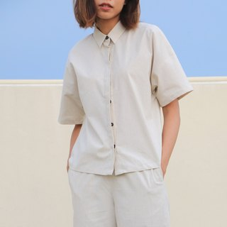 Creamy Paper Shirt  / Cotton Linen Hemp