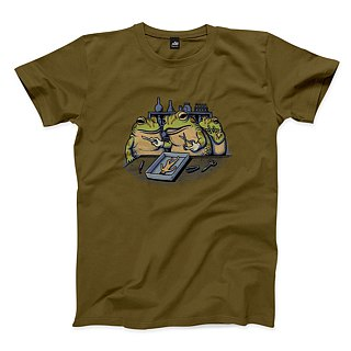 Frog Heart Profile - Army Green - Neutral T-Shirt