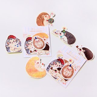 <Hedgie daily vol.01> 6 styles (set) / hedgehog stickers