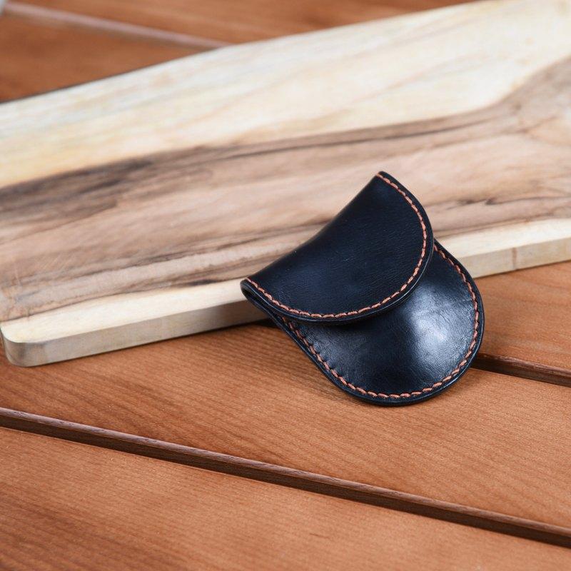 Goofy - 全手縫植鞣革 磁扣款小巧零錢包/小物收納