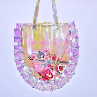 Transparent laser lace Tote bag