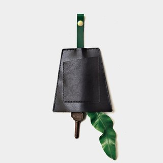 [Jungle nocturne gives a sense of belonging] leather leather bag black green leather can put cards leisure card credit card customer lettering when the gift Valentine's Day gift