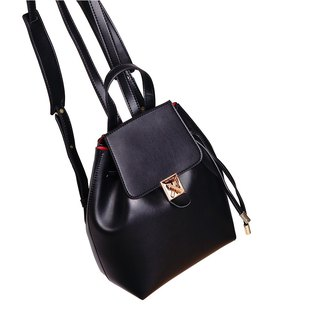 MBS [Series of Heart Lock] Leather Bucket Backpack