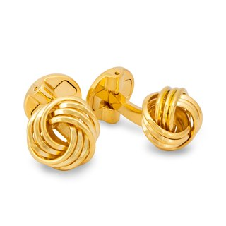 Wire Knot Cufflinks in Gold