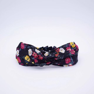 Black Persian floral handmade hair band limited hair band cross hair band