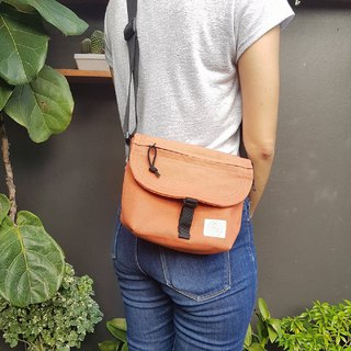 New Orange Basic Messenger Canvas Bag / everyday bag / travel /weekend