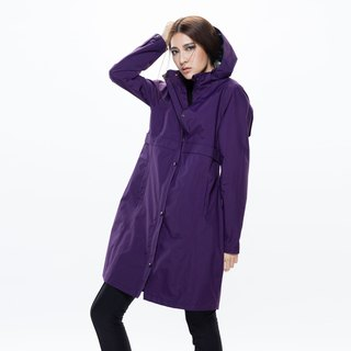 Herench British style waterproof breathable trench coat - Midnight Purple