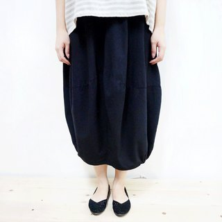 Cotton elastic spade skirt / black