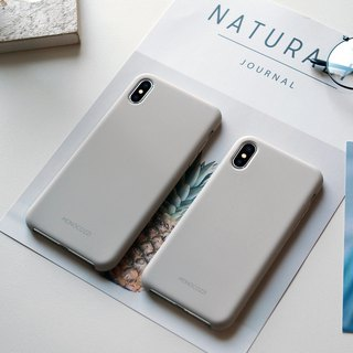 GRITTY | Liquid Silicon Stain Resistant Case for iPhone XS / XS Max - Stone Grey
