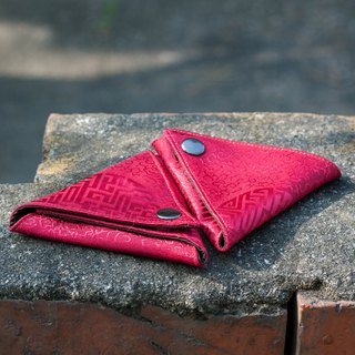 Triangle purse // red plain pattern // Triangle Bag