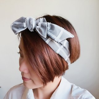 Black & White checked Headband