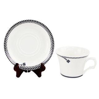 Engels Co. Single-Knot Coffee Cup/Saucer set