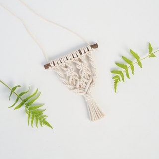 【 Macramé x Guava wood Collection 】Necklace │ Handwoven │ String of Diamond 004