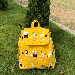 Arrange animals / limited edition small children's cotton backpack. After children's backpack. Baby's exclusive admission package.