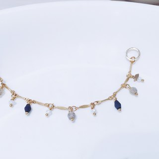 Lapis Lazuli Spectral Stone Pearl Bracelet (087) - Every Day