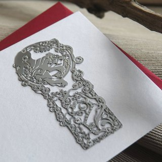 Wicked White Tiger Bookmark Greeting Card - Silver