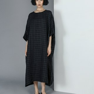 【Custom】Double layers linen long dress