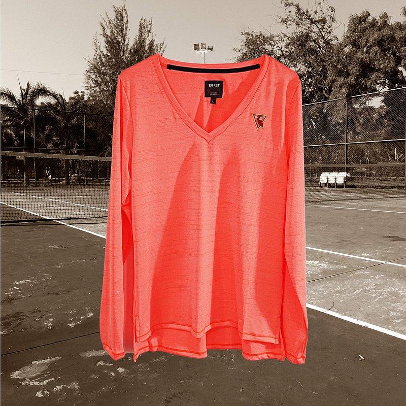 EGRET 不簡單基本款長袖上衣-螢光橘