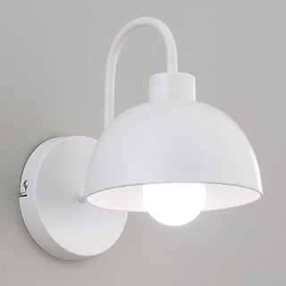 Nordic style dome white wall light
