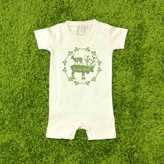 Nature Baby Pack Japan United Athle cotton soft short-sleeved bag fart clothing