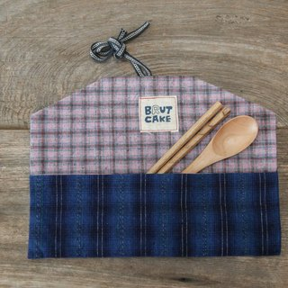 Brut Cake handmade fabric - envelope utensil carrier (2), handy, eco friendly, easy to wash.
