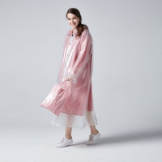 BAOGANI double raincoat - dot (pink)