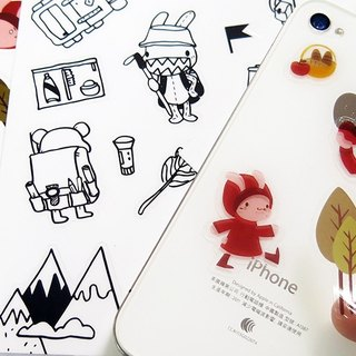 """Foufou"" transparent stickers - HIKING Time"