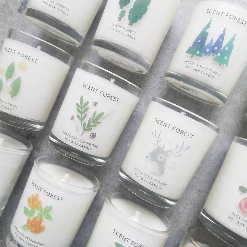 天然精油大豆香氛蠟燭 - 共10款