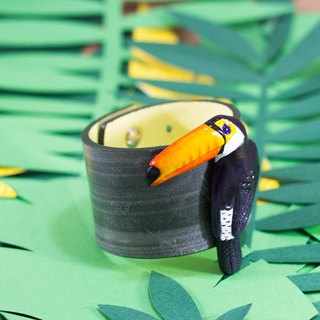Genuine Leather Toucan cuff