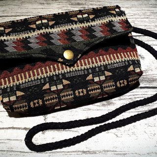 AMIN'S SHINY WORLD Handmade custom forest tone jacquard ethnic seagull cover copper shoulder bag