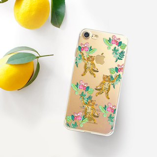 Animal clear phone case Floral clear iPhone 8 Case Animal phone Case Note8 case