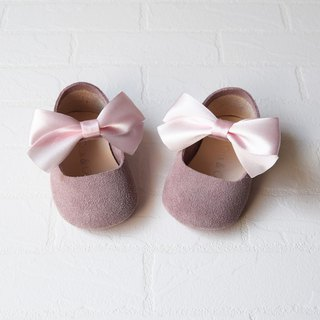 Dusty Rose Baby Girl Shoes, Baby Moccasins, Leather Mary Jane, Pink Baby Moccs