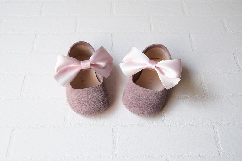 465c4b54ba514 Dusty Rose Baby Girl Shoes, Baby Moccasins, Leather Mary Jane, Pink Baby  Moccs
