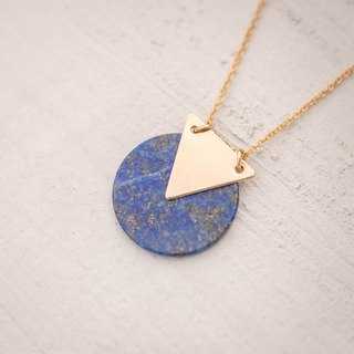 GREECE necklace with natural Lapis Lazuli in 14k gold filled