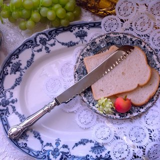 ♥ ♥ Annie crazy Antiquities British system of gold and silver 1960 silver carving knife bread knife cake knife dessert - the joy of tea utensils necessary