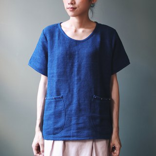 Omake Remake organic cotton indigo T-shirt