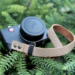 Wide version of nude color litchi ditch pattern camera wrist strap